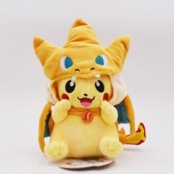 Peluche pikachu déguisé en dracaufeu 25 cm