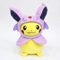 Peluche pikachu déguisé en mentali 28 cm