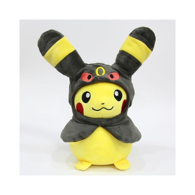 Peluche pikachu déguisé en noctali 28 cm