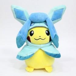 Peluche pikachu déguisé en givrali 28 cm