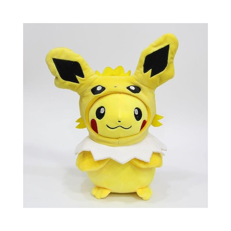 Peluche pikachu déguisé en voltali 28 cm