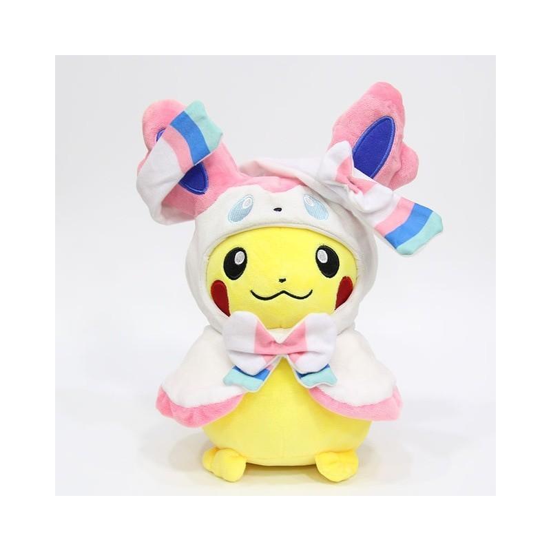 Peluche pikachu déguisé en nymphali 28 cm