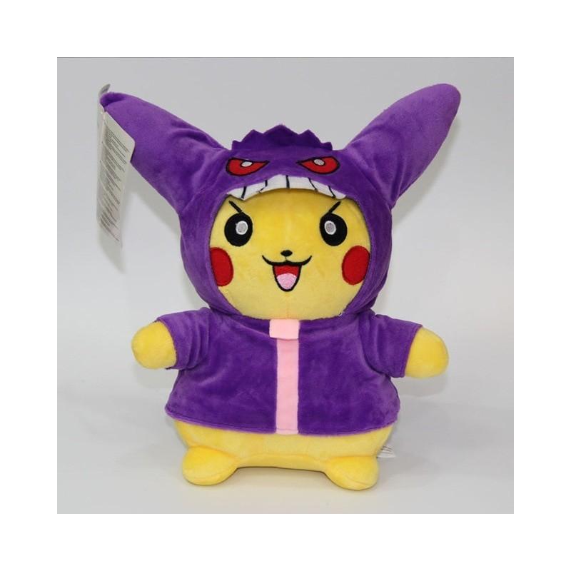 Peluche pikachu déguisé en ectoplasma 28 cm