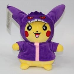 Peluche 28 cm pikachu déguisé en ectoplasma
