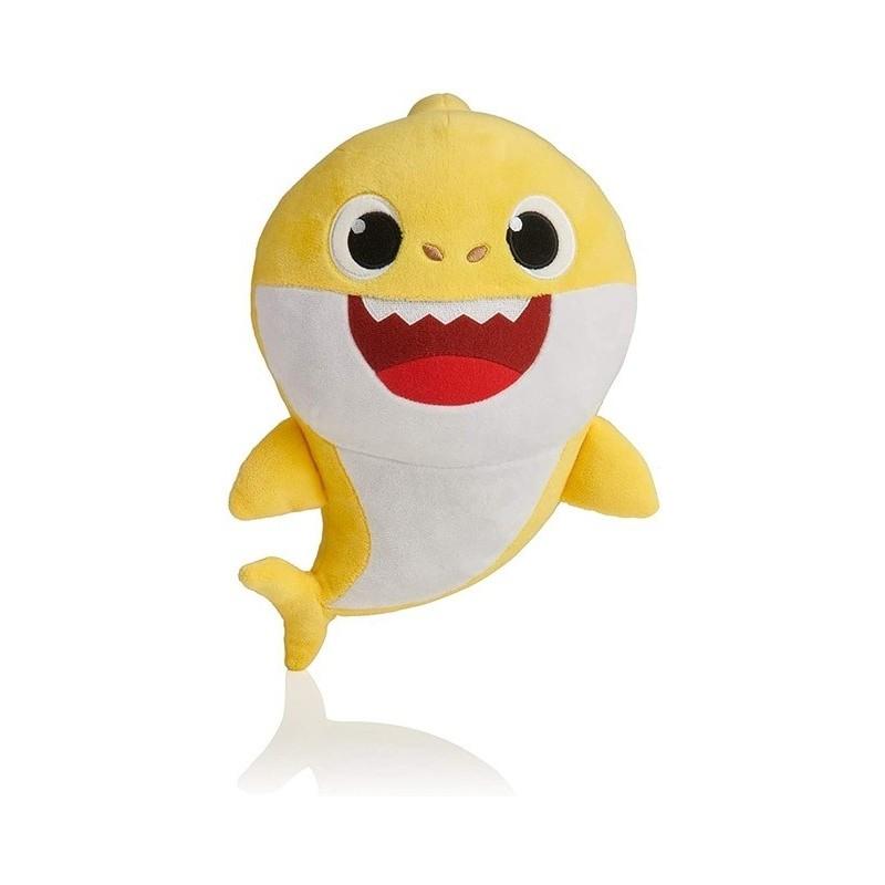 Peluche baby shark 32 cm jaune