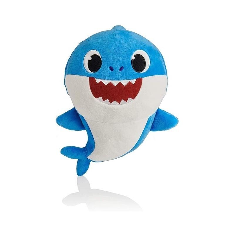 Peluche baby shark 32 cm bleu