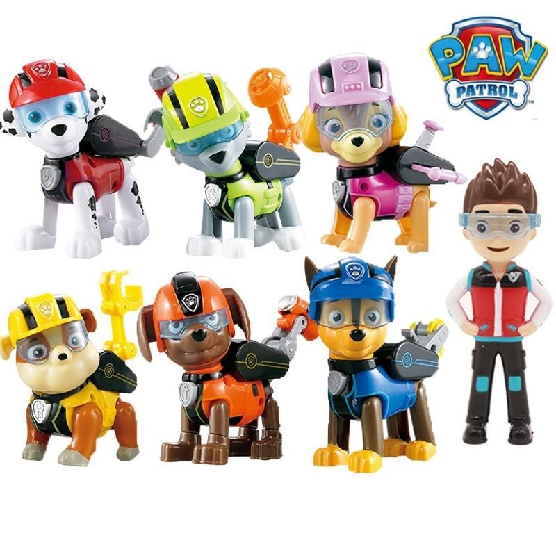 Lot de 7 figurines pat' patrouille
