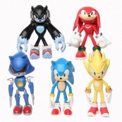 Lot de 5 figurines sonic 12 cm