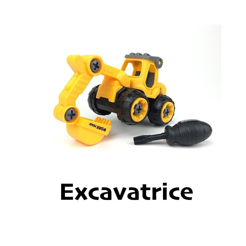 Jouet tracteur démontable et remontable à volonté au choix
