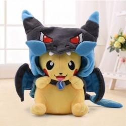 Peluche pikachu cosplay dracaufeu 25 cm