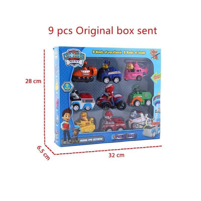 lot de 9 figurines pat'patrouilles avec boîte