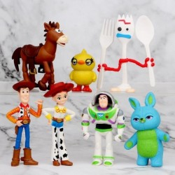 Lot de 7 figurines toy story 4 à 7 cm