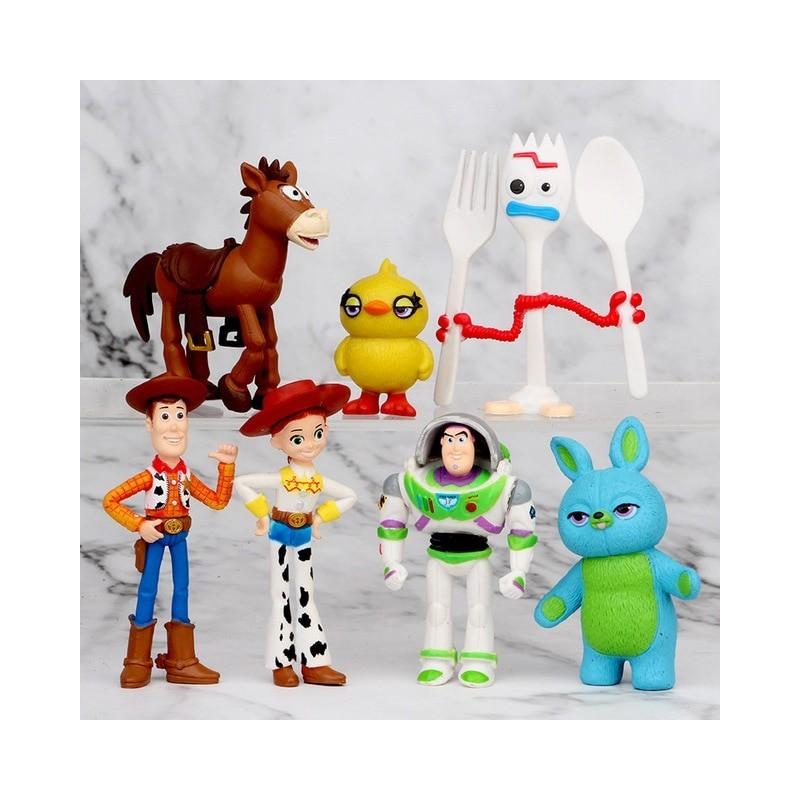 Lot de 7 figurines toy story 4 à 7 cm