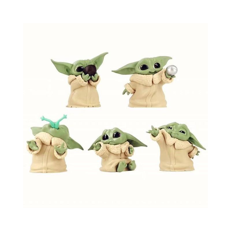 Lot de 5 figurines grogu bébé yoda the mandalorian 6 cm