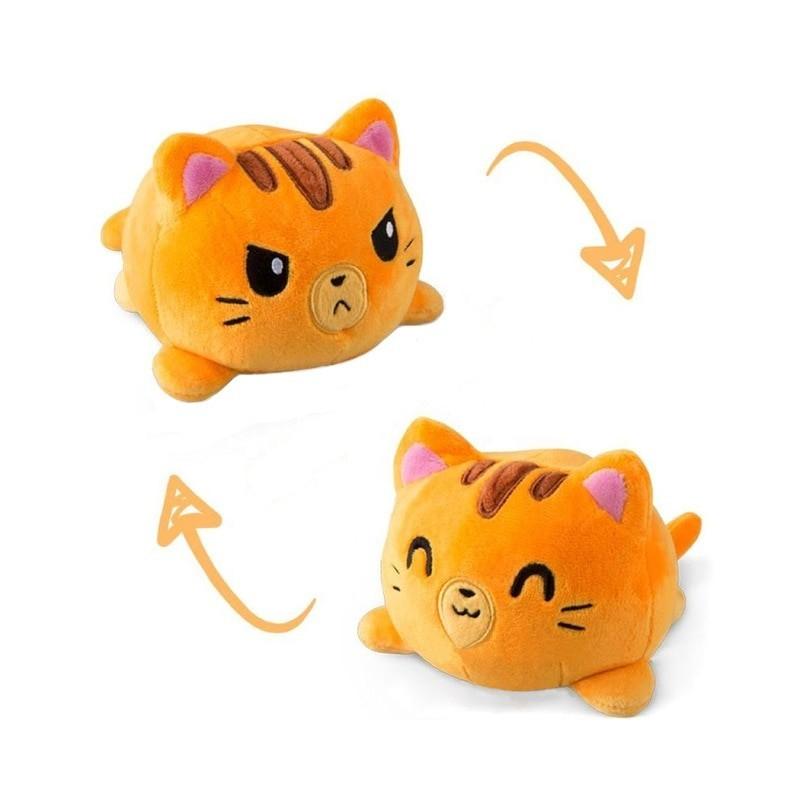 Peluche chat réversible 20 cm