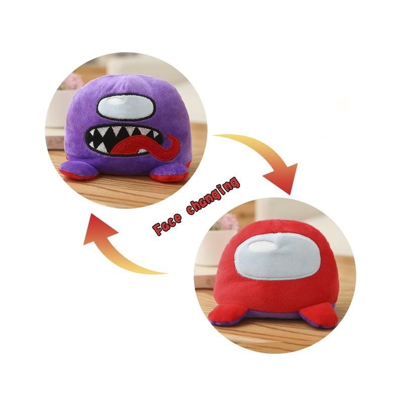Peluche among us réversible violet et rouge
