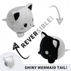peluche réversible chat noir et blanc