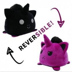 peluche licorne réversible violet et noir