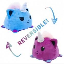 peluche licorne réversible violet et bleu