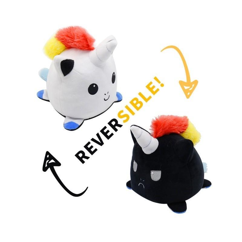 peluche réversible licorne
