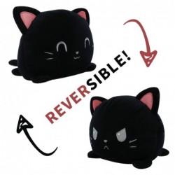 peluche réversible chat noir