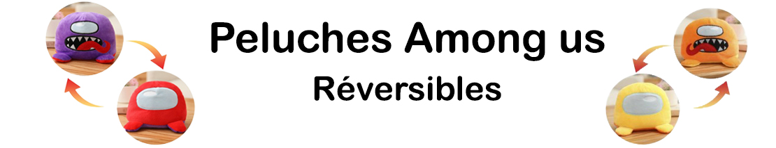 Peluche réversible among us promotion